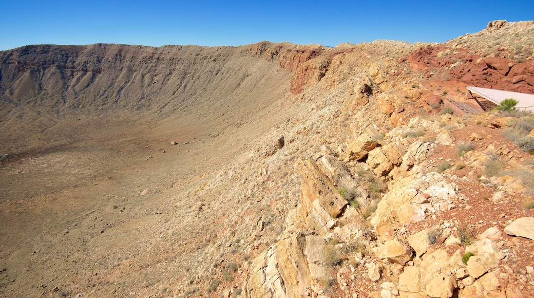 Meteor Crater featuring desert views and tranquil scenes