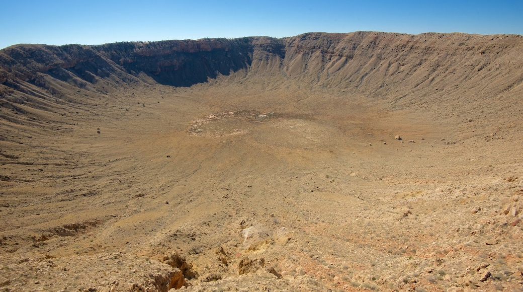 Meteor Crater which includes desert views and tranquil scenes