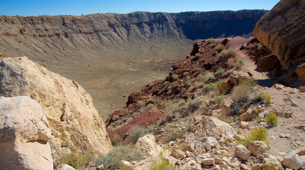 Meteor Crater showing desert views and tranquil scenes