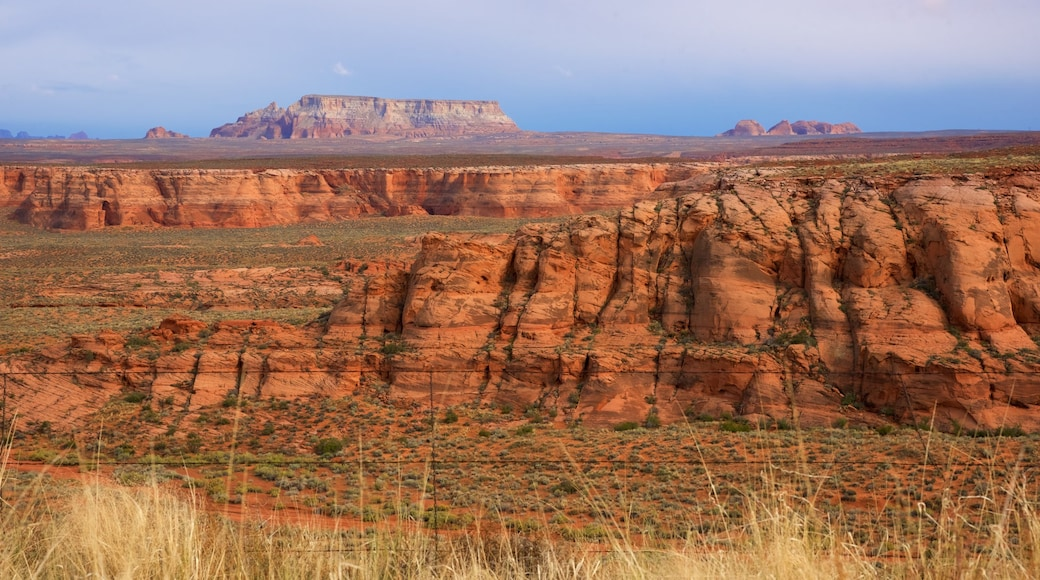 Page which includes a gorge or canyon, tranquil scenes and desert views
