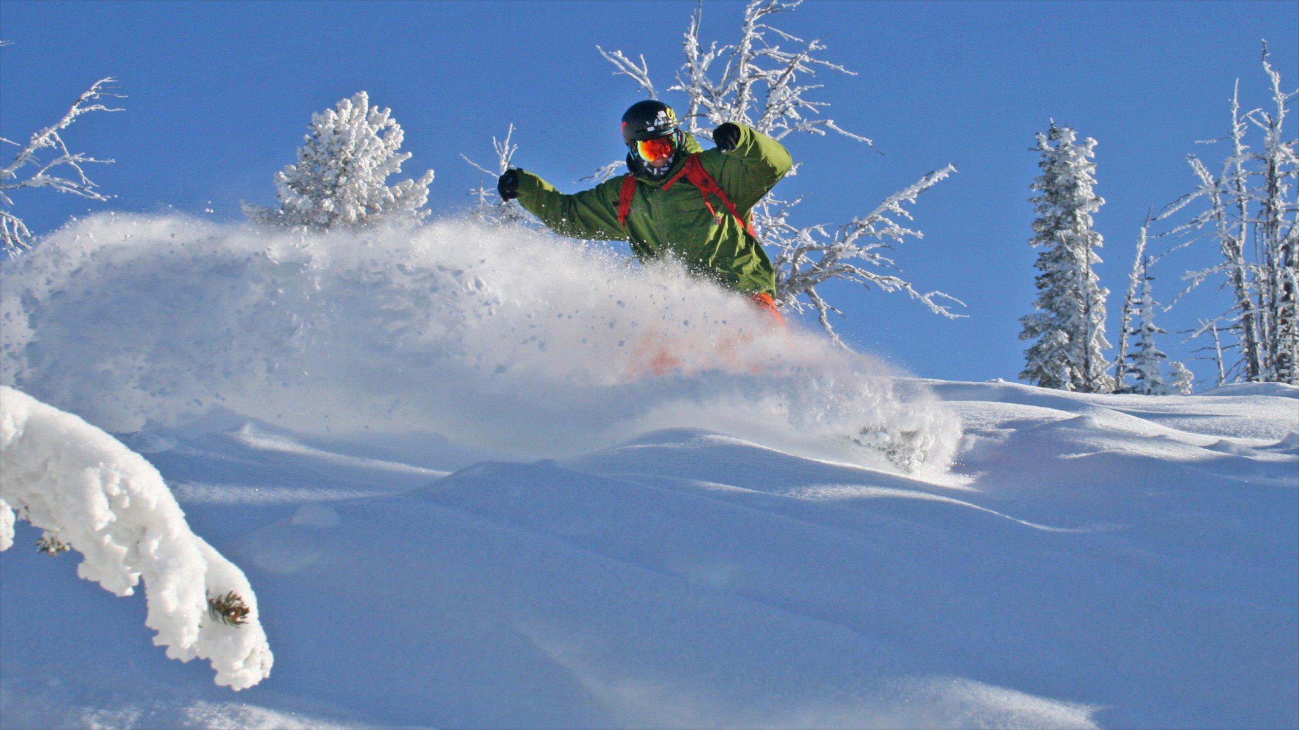 Brundage Mountainin hiihtokeskus featuring lunta ja hiihto