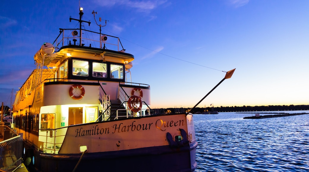 Hamilton featuring boating, a sunset and general coastal views
