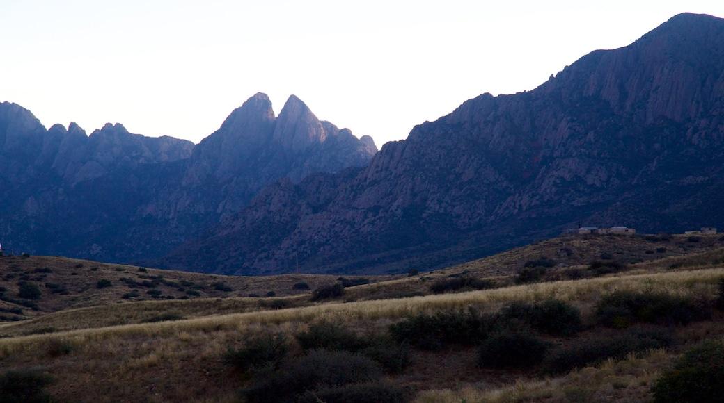 Poligono de misiles de White Sands mostrando escenas tranquilas y montañas