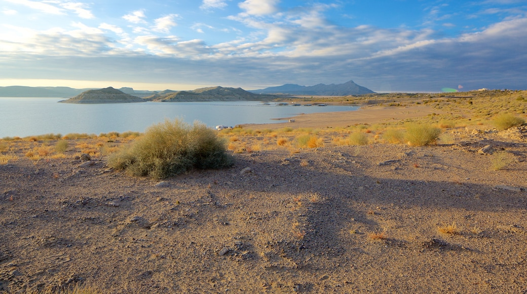 Elephant Butte showing tranquil scenes and a lake or waterhole