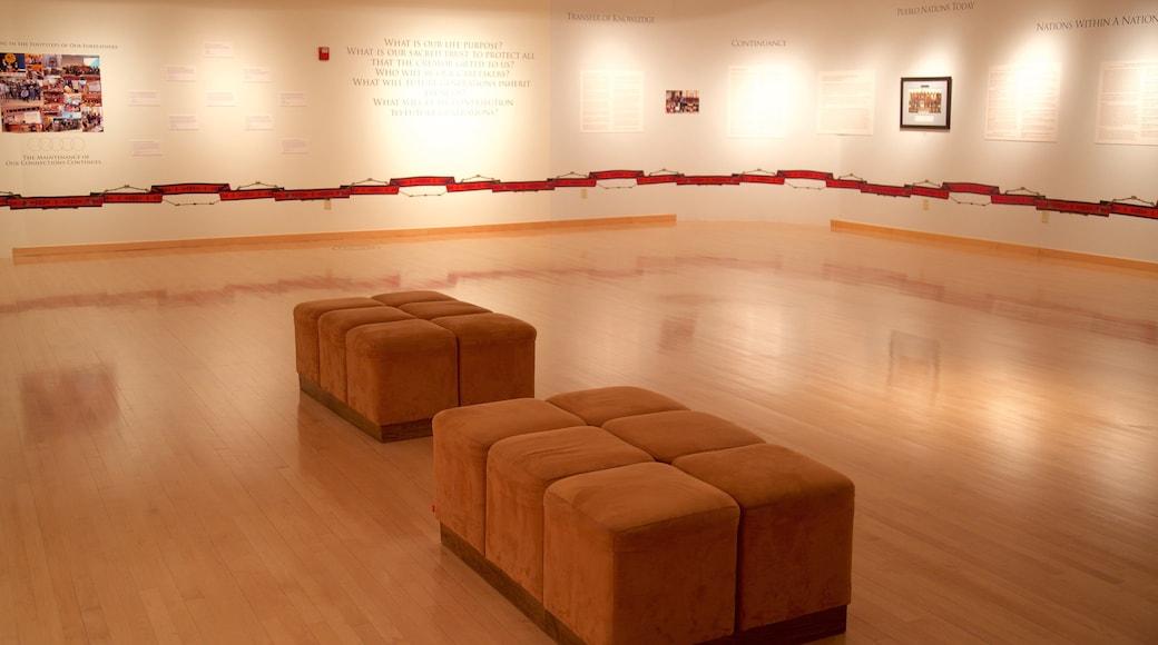 Indian Pueblo Cultural Center showing art and interior views