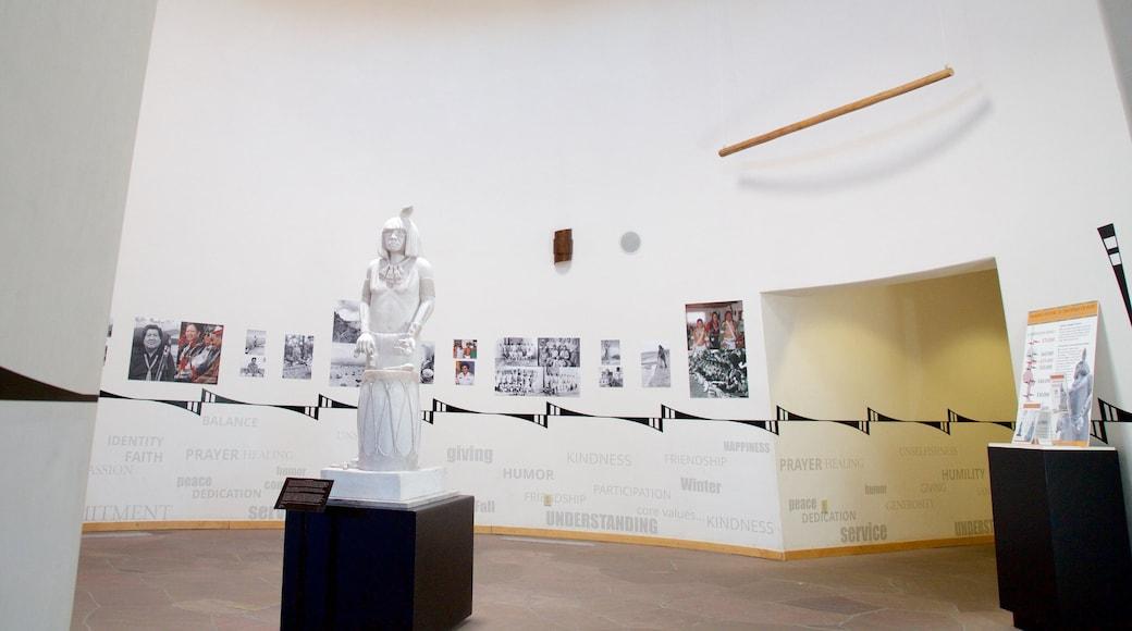 Indian Pueblo Cultural Center showing interior views