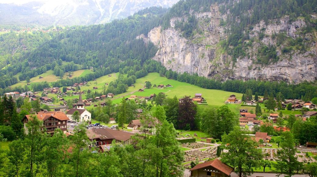 Lauterbrunnen featuring farmland and landscape views