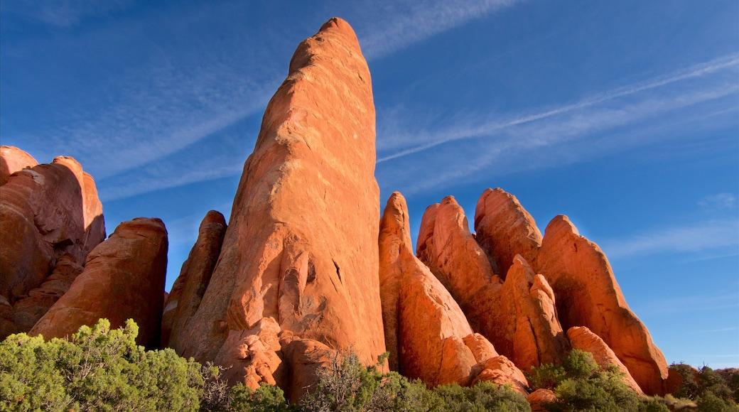 Arches Nationalpark mit einem ruhige Szenerie