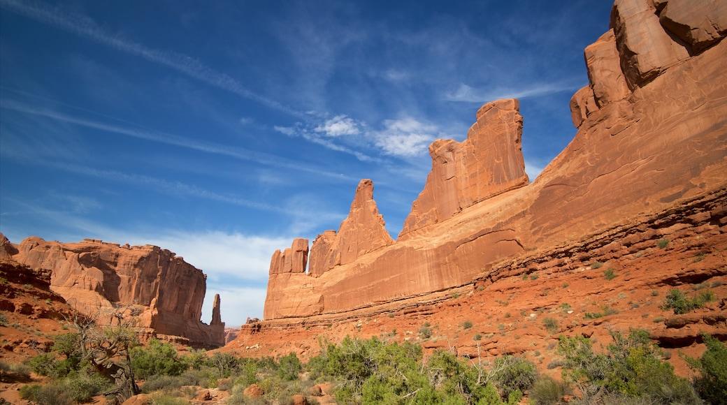 Arches Nationalpark das einen Wüstenblick