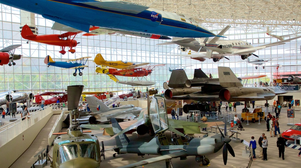 Museum of Flight which includes interior views