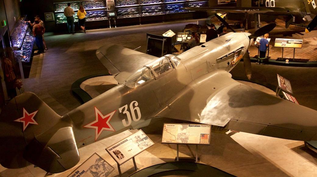 Museum of Flight featuring interior views