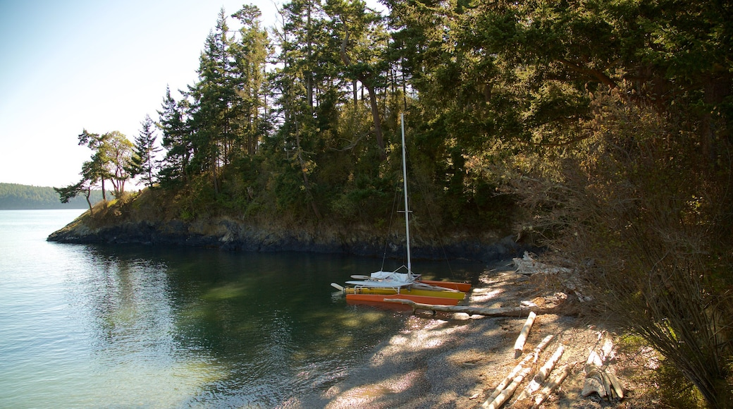 Deception State Park showing sailing, a bay or harbor and forest scenes