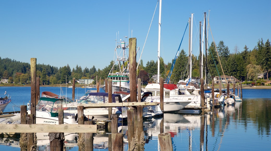 Gig Harbor featuring a marina and a bay or harbor