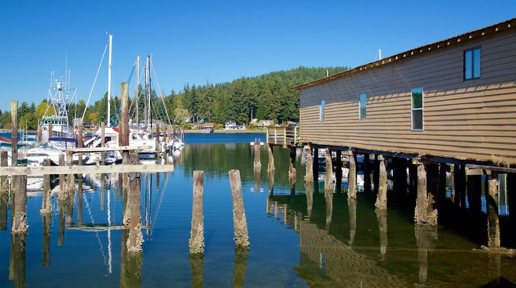 Gig Harbor showing a bay or harbor and a marina