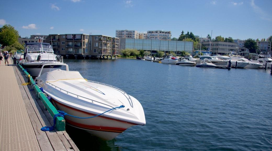 Marina Park showing boating, a marina and a lake or waterhole