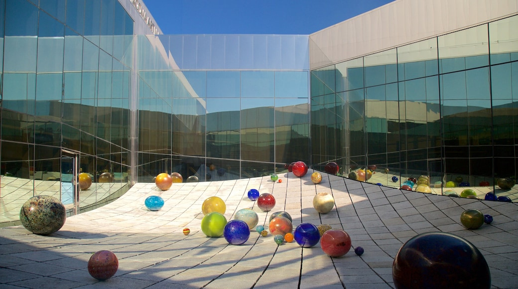 Tacoma Art Museum featuring modern architecture and outdoor art