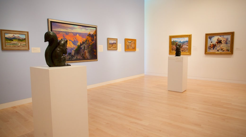 Tacoma Art Museum showing art and interior views