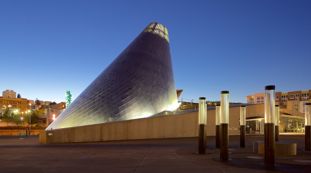 Museum of Glass featuring night scenes and modern architecture