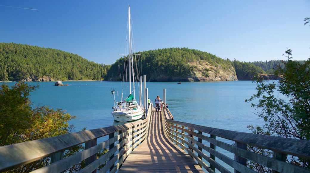 Deception State Park showing sailing and a river or creek