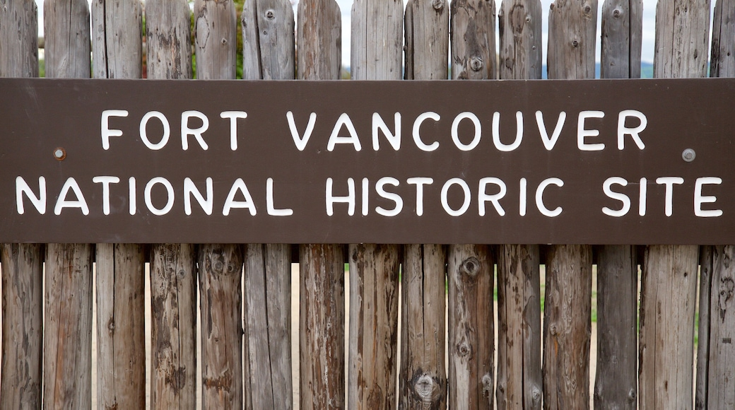 Fort Vancouver National Historic Site featuring signage