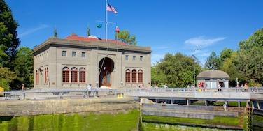 Hiram M. Chittenden Locks som omfatter historiske bygningsværker