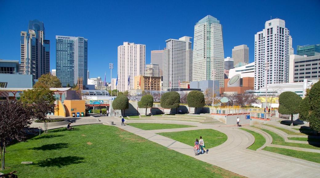 South of Market das einen Park, Stadt und Skyline