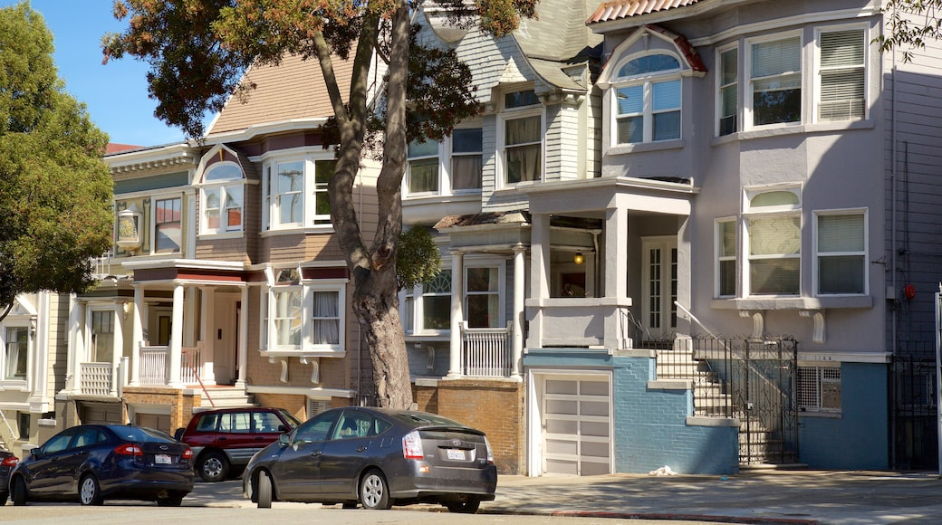 Haight-Ashbury featuring a house and street scenes