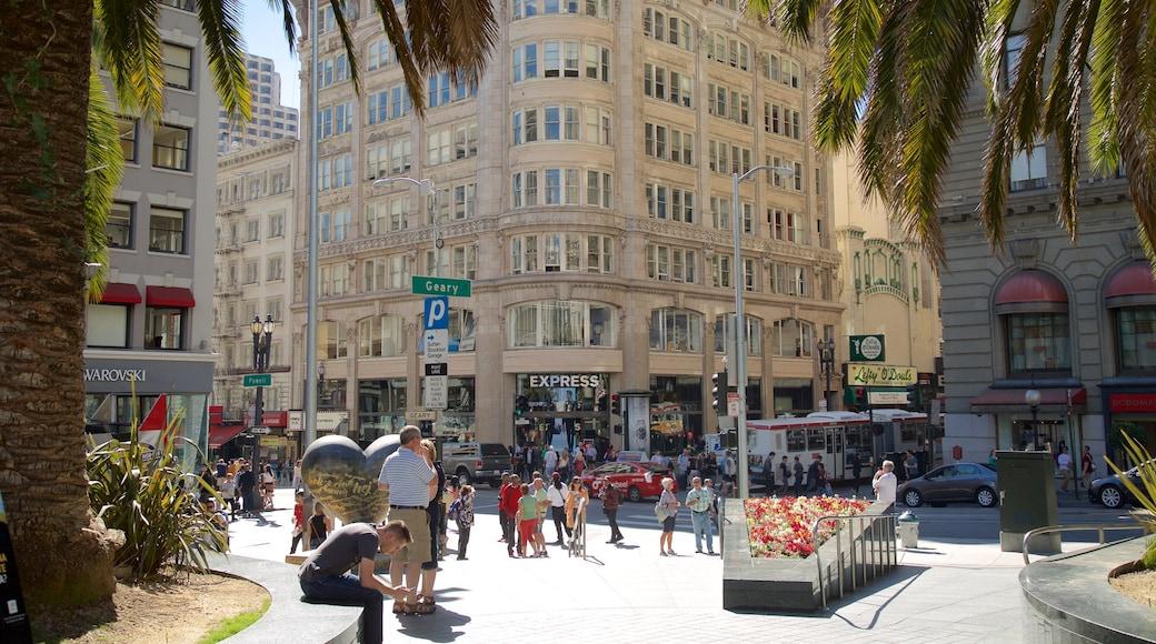 Union Square som omfatter en by, det centrale forretningsområde og gadeliv