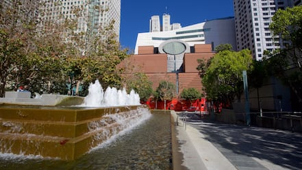 South of Market featuring a city, cbd and a fountain