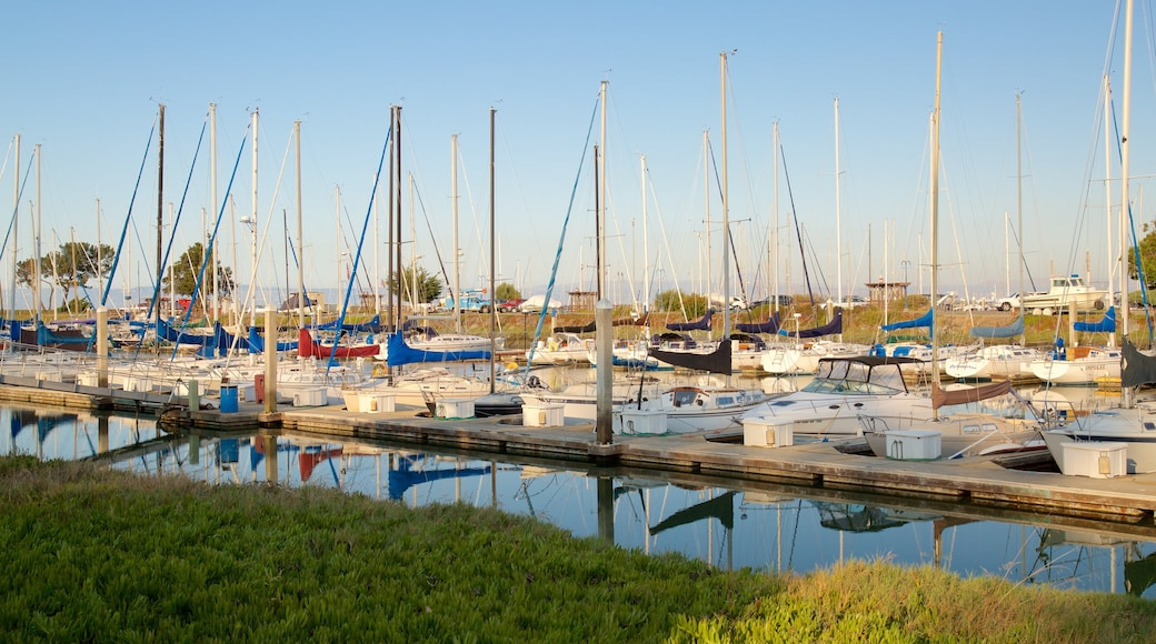 Coyote Point Park featuring sailing and a bay or harbor