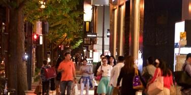 Shinsaibashi featuring street scenes