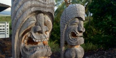 Pu\'uhonua o Honaunau National Historical Park which includes a statue or sculpture