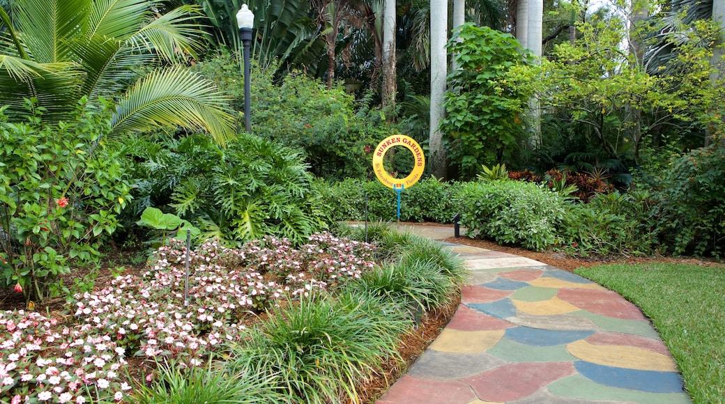 Sunken Gardens caratteristiche di giardino