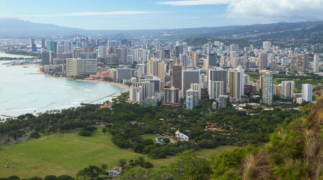 Diamond Head featuring general coastal views, a city and skyline