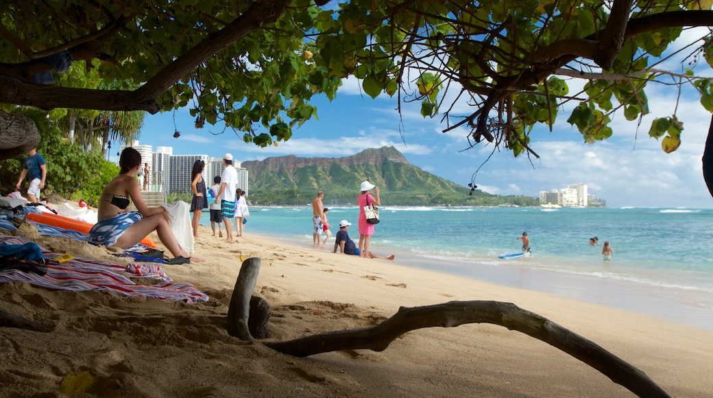 Oahu Island featuring general coastal views as well as a small group of people