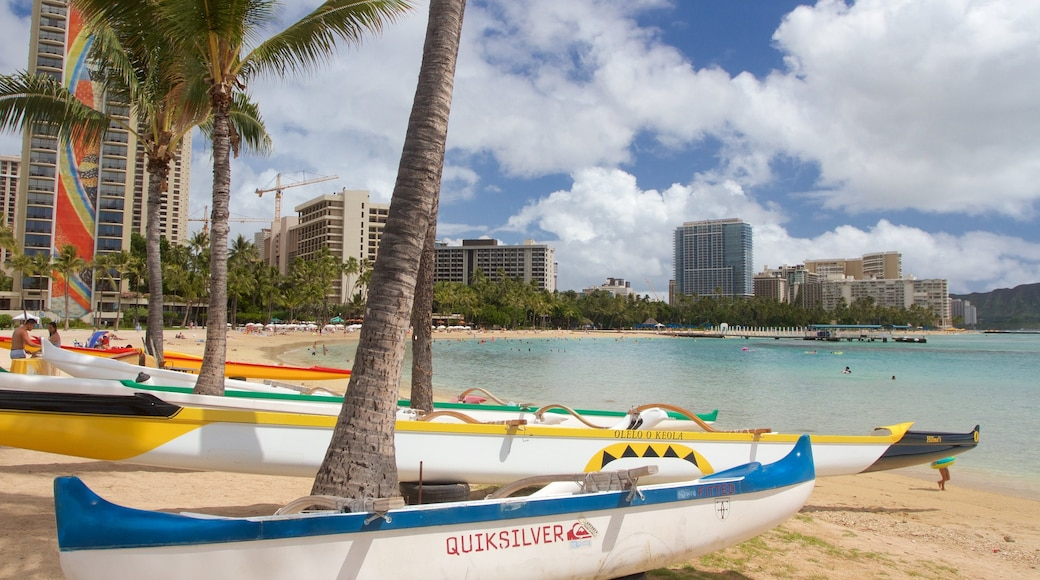 Waikiki Beach which includes a beach and general coastal views