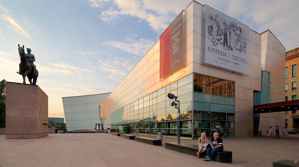 Kunstmuseum Kiasma welches beinhaltet moderne Architektur