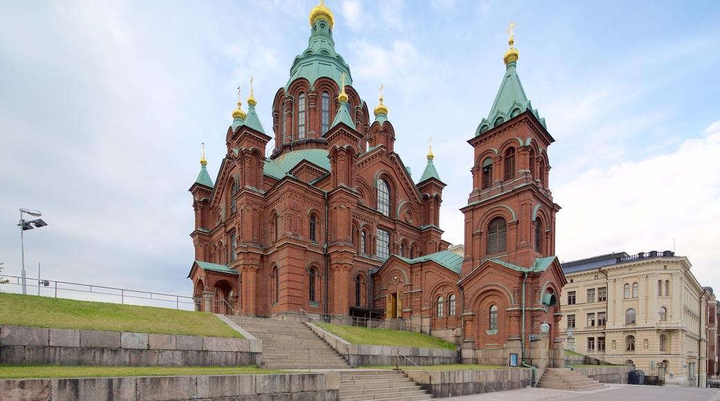 Katajanokka featuring kirkko tai katedraali ja vanha arkkitehtuuri
