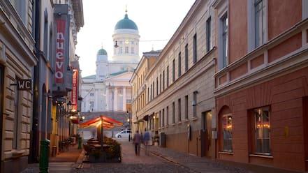 Senate Square showing street scenes