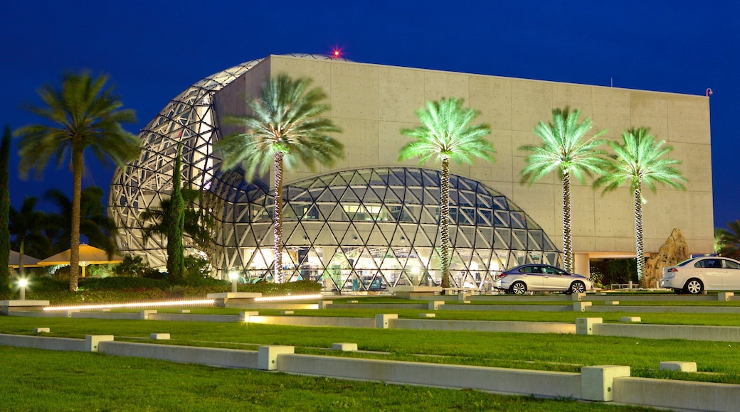 Salvador Dali Museum showing night scenes and modern architecture