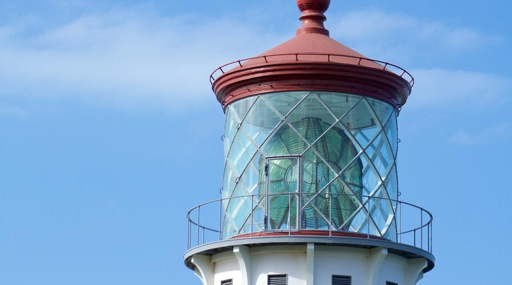 Kilauea Lighthouse showing a lighthouse
