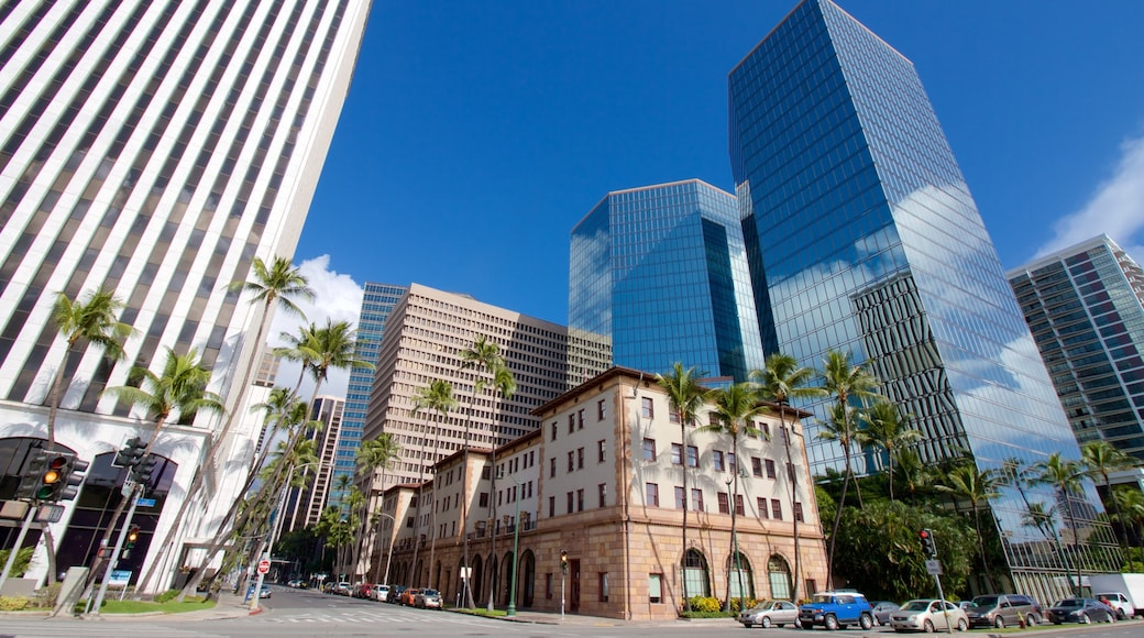 Oahu Island featuring modern architecture, skyline and a city