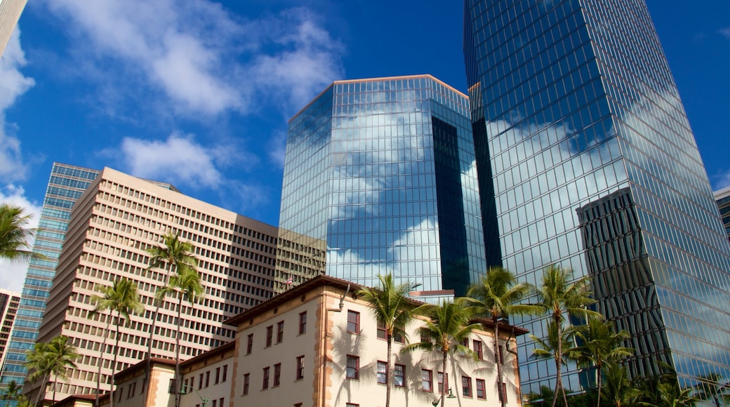 Oahu Island which includes modern architecture