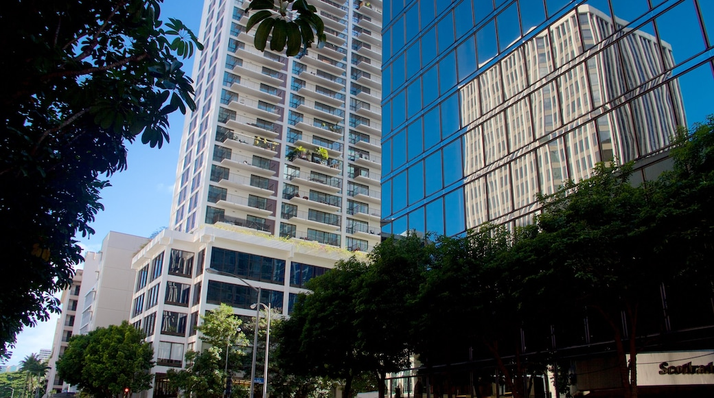 Downtown Honolulu featuring modern architecture