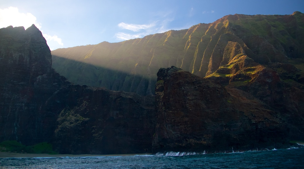 NaPali Coast State Park which includes general coastal views and a gorge or canyon