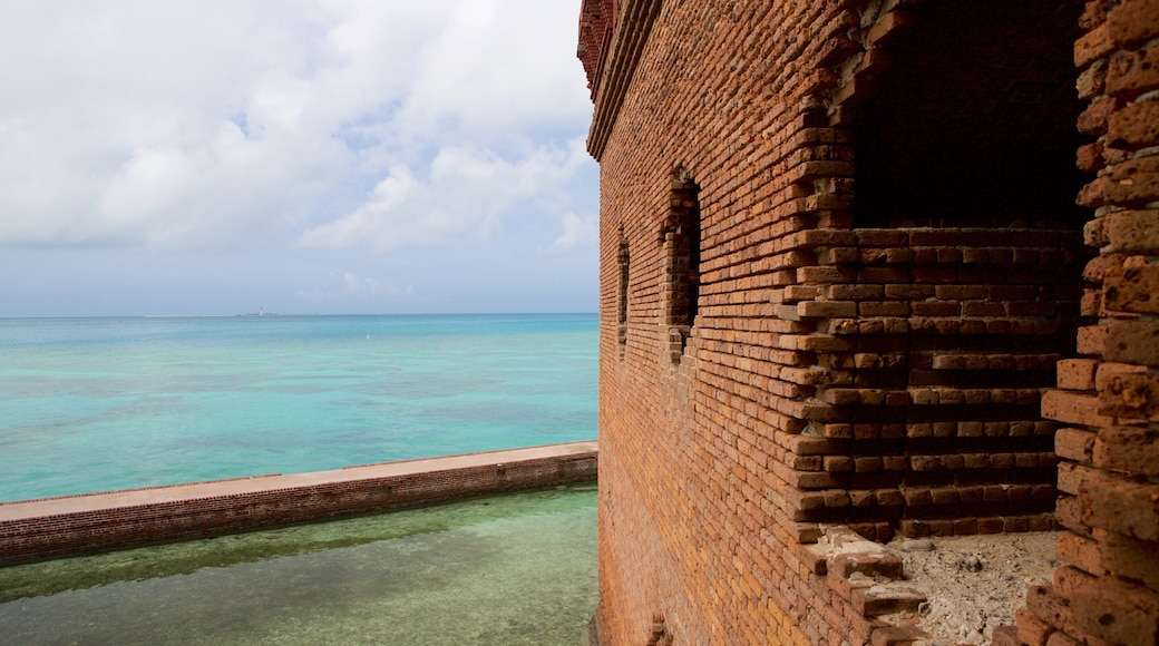 Dry Tortugas National Park showing general coastal views and heritage architecture