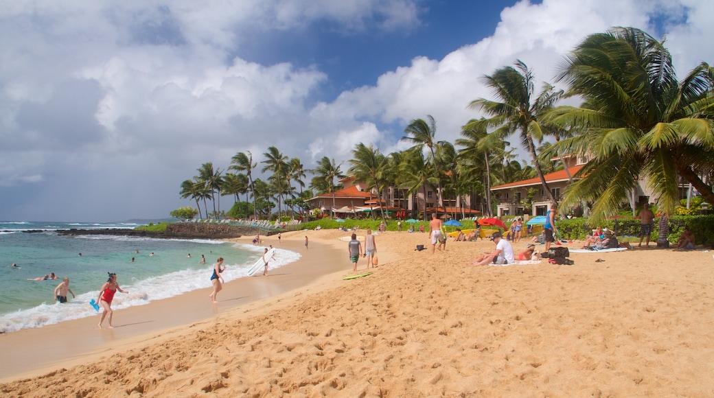 Poipu Beach featuring a beach