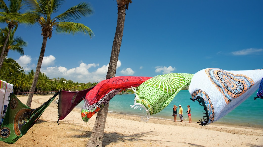 Airlie Beach showing tropical scenes and a sandy beach