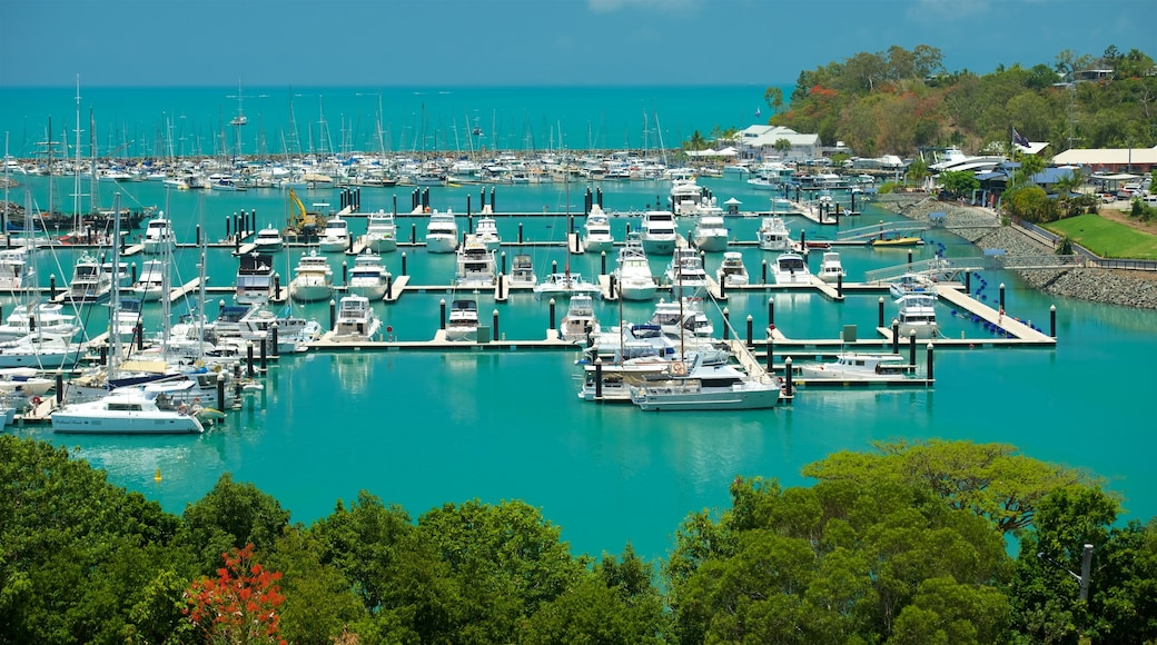 Abell Point Marina which includes boating, a bay or harbour and general coastal views