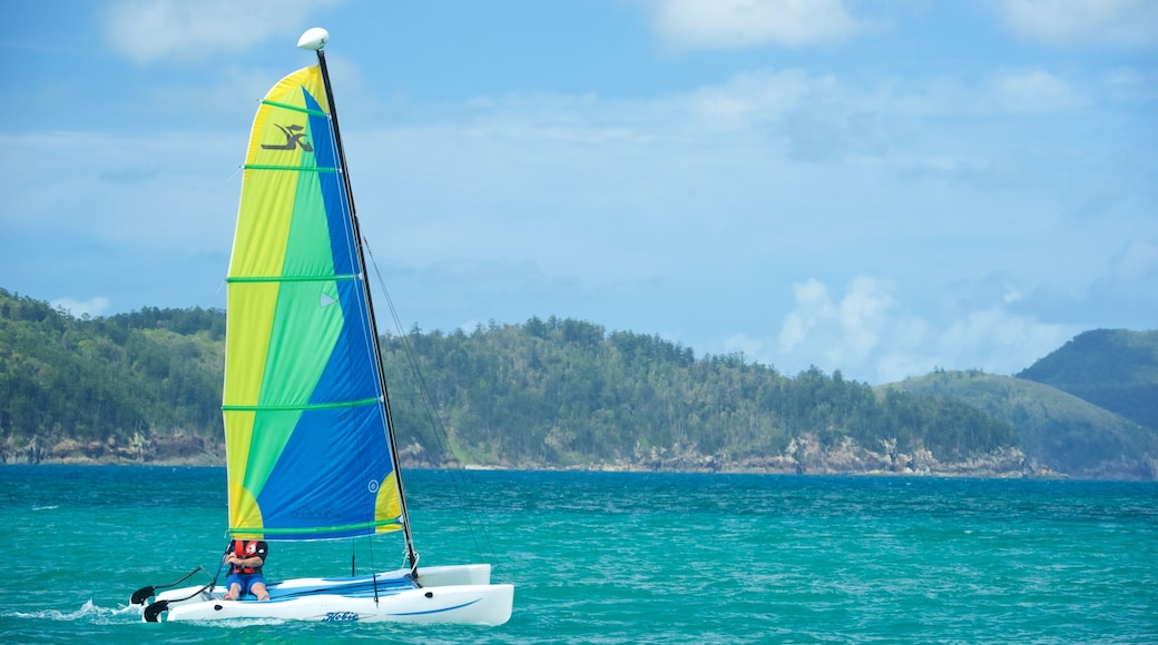 Catseye Beach which includes sailing, landscape views and general coastal views